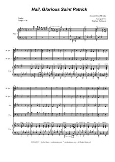 Hail, Glorious Saint Patrick: For brass quartet and piano by folklore