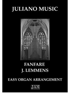 Leichtes Trios: No.27 Fanfare, for easy organ - C version by Jacques-Nicolas Lemmens
