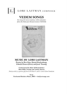 Vedem Songs: Formezzo soprano with violin and piano (score and violin part included) by Lori Laitman