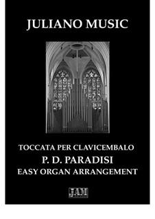 Sonate in A-Dur: Toccata, for easy organ - C version by Pietro Domenico Paradies