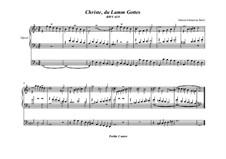 Christe, du Lamm Gottes, BWV 619: Für Orgel by Johann Sebastian Bach