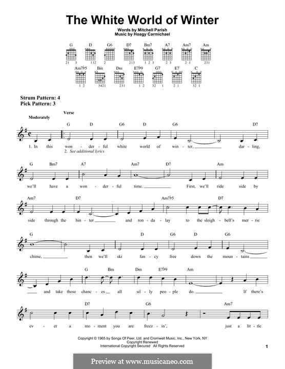 The White World of Winter: Für Gitarre by Hoagy Carmichael