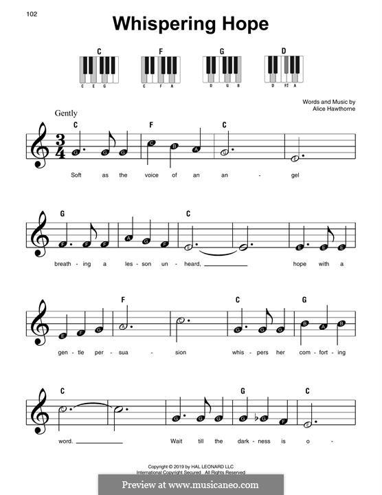 Whispering Hope: Für Klavier by Septimus Winner