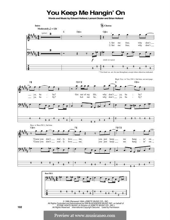 You Keep Me Hangin' On: Für Bassgitarre by Brian Holland, Edward Holland Jr., Lamont Dozier