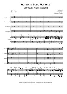 Hosanna, Loud Hosanna (with 'Ride On, Ride On In Majesty!'): For brass quartet and piano - alternate version by folklore