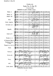 Suite Nr.2 in C-Dur, TH 32 Op.53: Vollpartitur by Pjotr Tschaikowski