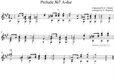 Nr.7 in A-Dur: Für Gitarre by Frédéric Chopin
