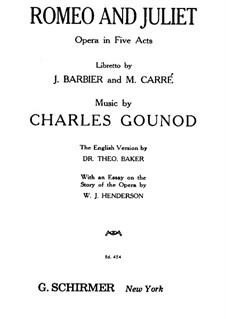 Romeo und Julia: Klavierauszug mit Singstimmen by Charles Gounod