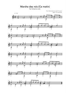 Marche de rois: Für Gitarre by folklore