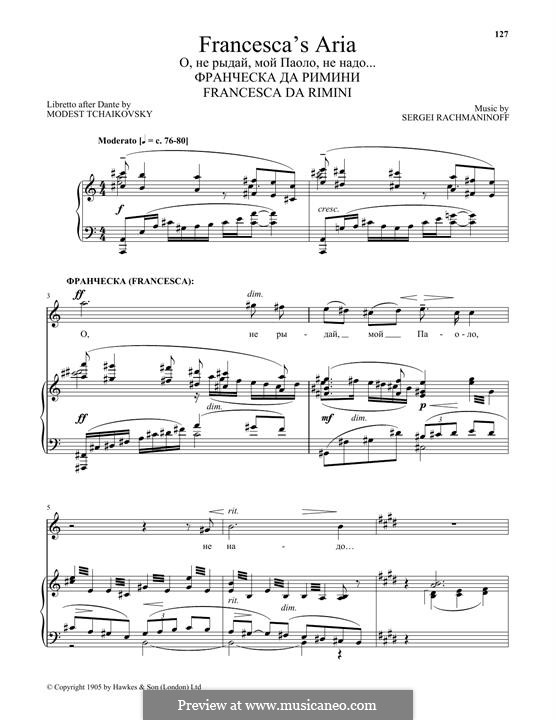 Francesca da Rimini, Op.25: Francesca's Aria by Sergei Rachmaninoff
