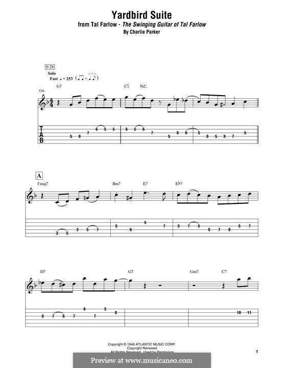 Yardbird Suite: Für Gitarre by Charlie Parker
