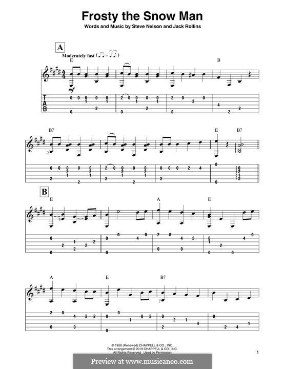 Frosty the Snow Man: Für Gitarre by Jack Rollins, Steve Nelson