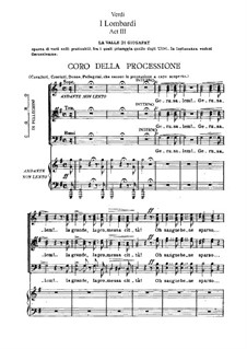 Die Lombarden auf dem ersten Kreuzzug: Akt III, für Solisten, Chor und Klavier by Giuseppe Verdi