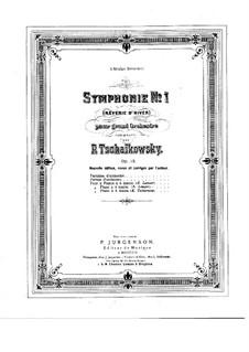 Sinfonie Nr.1 in g-Moll 'Winterträume', TH 24 Op.13: Für Klavier by Pjotr Tschaikowski