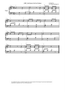 ABC, die Katze lief im Schnee: Für Klavier by folklore