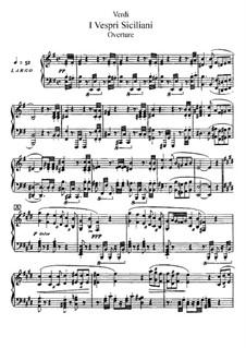 Die sizilianische Vesper: Akt I, für Solisten, Chor und Klavier by Giuseppe Verdi