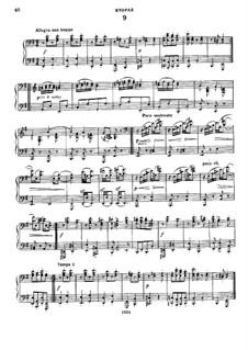 Tanz Nr.9 in e-Moll: Erste und zweite Stimme by Johannes Brahms
