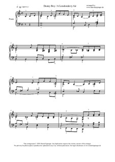 Danny Boy (Londonderry Air): Für Klavier by folklore