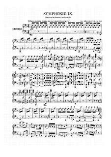 Vollständiger Sinfonie: Version für Klavier, vierhändig by Ludwig van Beethoven
