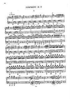 Sinfonie Nr.17 in F-Dur, Hob.I/17: Für Klavier, vierhändig by Joseph Haydn