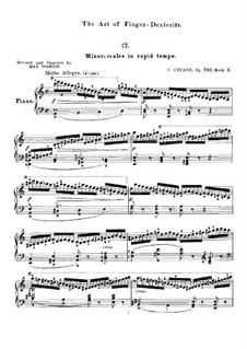 Die Kunst der Fingerfertigkeit, Op.740: Übungen Nr.17-32 by Carl Czerny