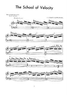 Schule der Geläufigkeit, Op.299: Übungen Nr.1-20 by Carl Czerny