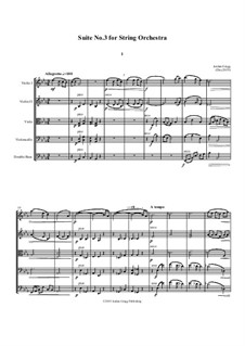Suite No.3 for String Orchestra: Suite No.3 for String Orchestra by Jordan Grigg