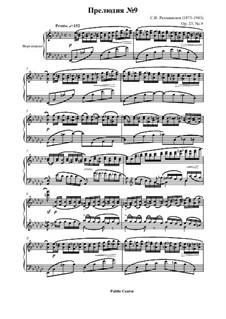 Zehn Präludien, Op.23: Prelude No.9 in E Flat Minor by Sergei Rachmaninoff