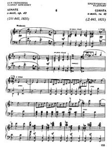 Sonate für Klavier Nr.16 in a-Moll, D.845 Op.42: Für einen Interpreten by Franz Schubert