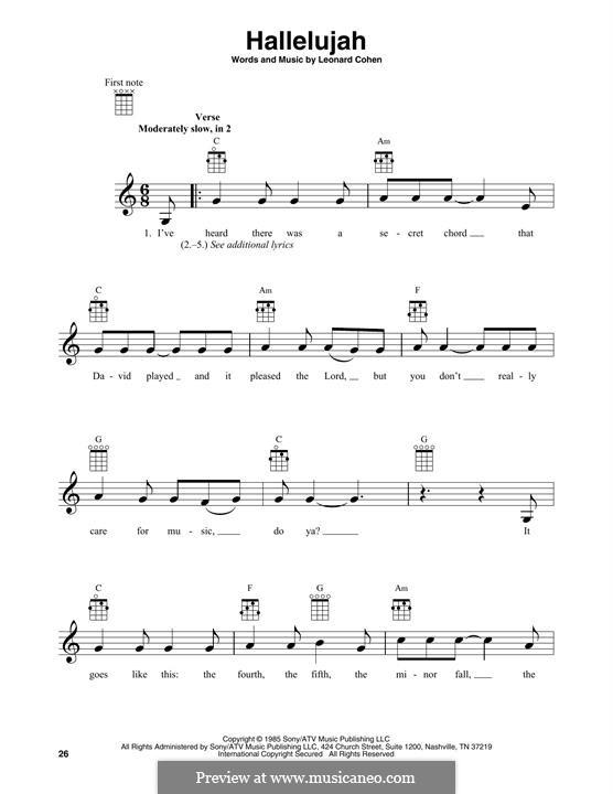 Piano-vocal score: Melodische Linie by Leonard Cohen