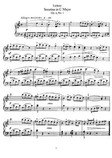 Sonatinen, Op.4: Sonatine Nr.1 in C-Dur by Heinrich Lichner