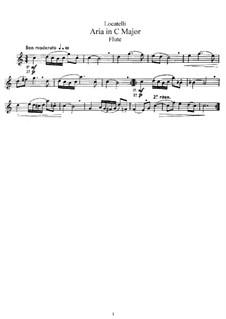 Arie in C-Dur: Version für Flöte und Klavier – Solo Stimme by Pietro Locatelli