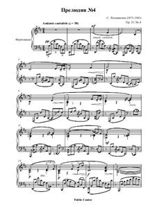 Zehn Präludien, Op.23: Prelude No.4 in D Major by Sergei Rachmaninoff