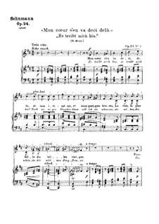 Liederkreis, Op.24: Nr.2 Es treibt mich hin by Robert Schumann