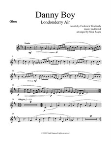 Danny Boy (Londonderry Air): For woodwind quintet - oboe part by folklore