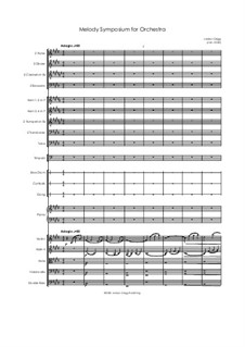 Melody Symposium for Orchestra: Melody Symposium for Orchestra by Jordan Grigg