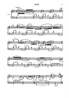 24 preludies and fugues for piano: No.20 by Vladimir Polionny