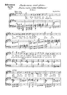 Liederkreis, Op.24: Nr.6 Warte, warte wilder Schiffman by Robert Schumann