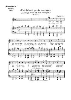 Liederkreis, Op.24: Nr.8 Anfangs wollt' ich fast verzagen by Robert Schumann