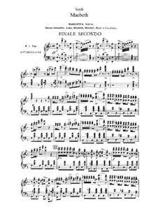 Macbeth: Akt II Nr.12-14, für Solisten, Chor und Klavier by Giuseppe Verdi