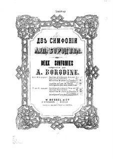 Sinfonie Nr.2 in h-Moll: Für zwei Klaviere, vierhändig by Alexander Porfiryevich Borodin