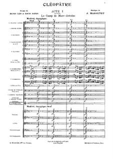 Cléopâtre: Vollpartitur by Jules Massenet