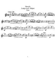 Largo in F-Dur für Flüte und Klavier: Flötenstimme by Benedetto Marcello