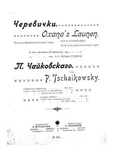 Die Pantöffelchen, TH 8: Vollpartitur by Pjotr Tschaikowski