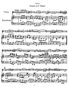 Sonate für Violine und Klavier in C-Dur: Partitur by Giuseppe Tartini