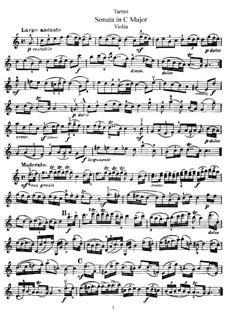 Sonate für Violine und Klavier in C-Dur: Solostimme by Giuseppe Tartini