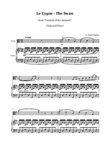Der Schwan: Für Viola und Klavier by Camille Saint-Saëns