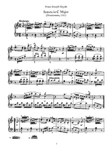 Sonate für Klavier Nr.6 in C-Dur, Hob.XVI/10: Für einen Interpreten by Joseph Haydn