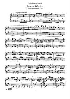 Sonate für Klavier Nr.16 in D-Dur, Hob.XVI/14: Für einen Interpreten by Joseph Haydn