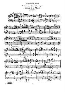 Sonate für Klavier Nr.52 in G-Dur, Hob.XVI/39: Für einen Interpreten by Joseph Haydn